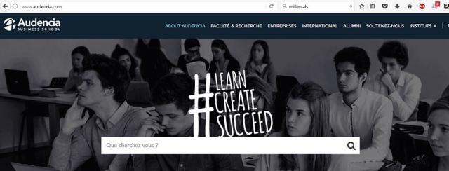 stratégie digitale homepage Audencia