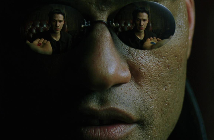 Neo from picking the red pill