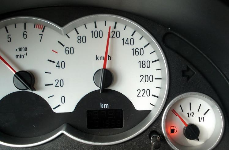 Image of car cockpit meters