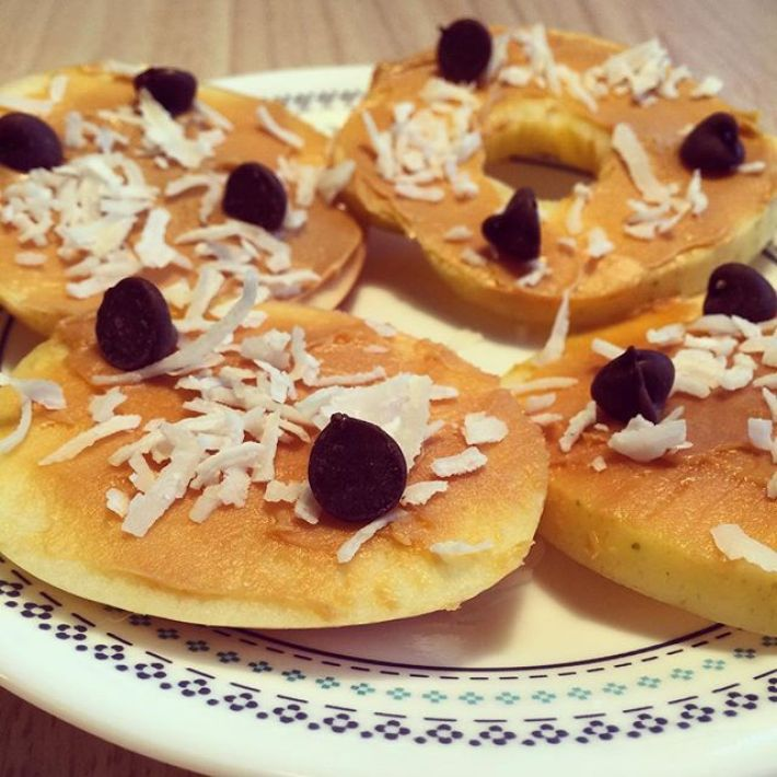 Apple nut butter cookies