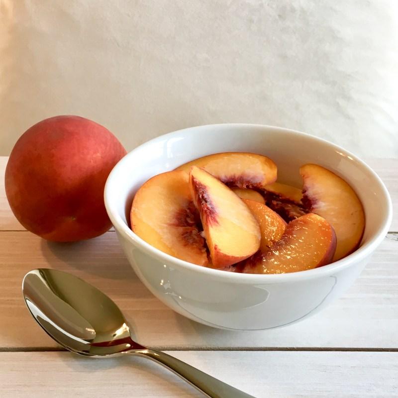 Peaches and cream healthy dessert
