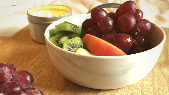 Marble bowl of fruit