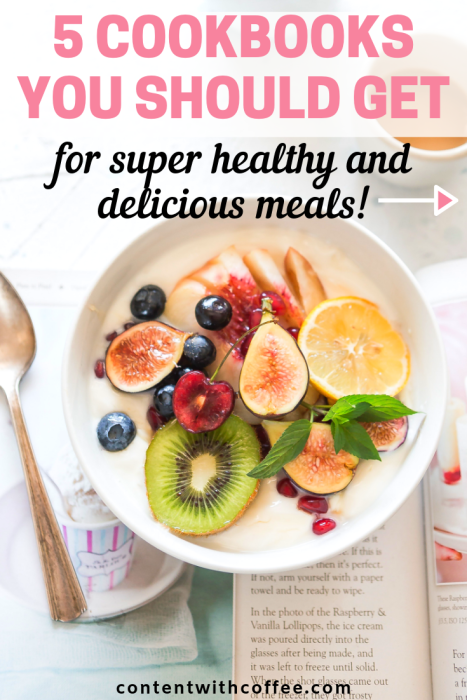 5 Cookbooks You Should Get for Super Healthy and Delicious Meals! If you're looking for healthy meals and inspiration, these healthy cookbooks are exactly what you need. #healthycookbooks #healthymeals #healthyrecipes #quickandeasyrecipes #healthyanddelicious