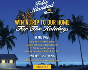 Chance To Win Trip For 4 To Tulum, Mexico
