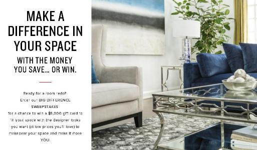 Big Difference $5,000 Gift Card Sweepstakes – Chance to Win a $5,000 Gift Card