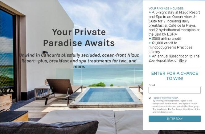 Your Private Paradise Awaits Sweepstakes – Stand Chance To Win A Trip To Nizuc Resort and Spa