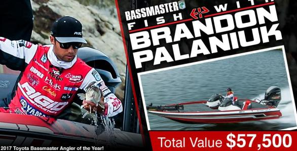 The Fish with Brandon Palaniuk Angler of the Year Sweepstakes– Chance to Win One trip package for one to US Location to Fish with Brandon Palaniuk