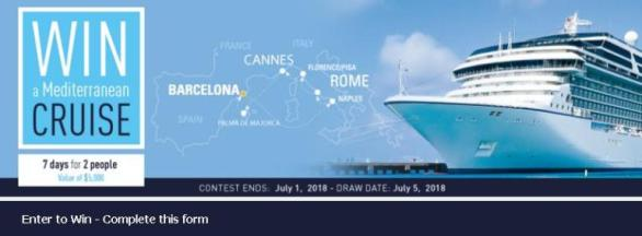 Linen Chest Contest – Stand Chance To Win Mediterranean Cruise