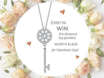 Sylvie Collection Contest – Stand Chance To Win White Gold Diamond Key Shaped Pendant
