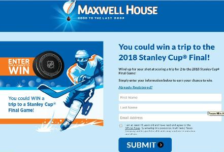 Maxwell House Ultimate Hockey Fan Sweepstakes – Stand Chance to Win A Trip for Two