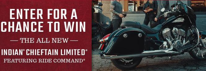 Polaris Industries Online Sweepstakes Giveaway – Stand Chance to Win The All-New Chieftain Limited