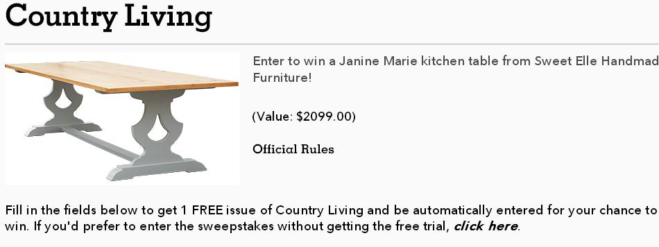Country Living Find The Horseshoe Sweepstakes – Chance to