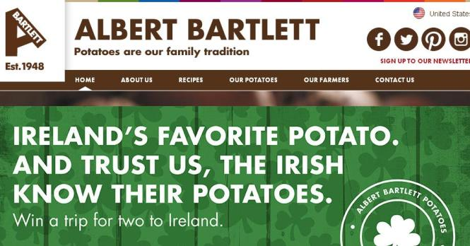The Albert Bartlett St. Patrick's Day Sweepstakes – Chance to Win a Trip to Dublin, Ireland