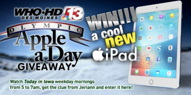 Whotv com Channel 13's Apple A Day Giveaway – Win an Apple