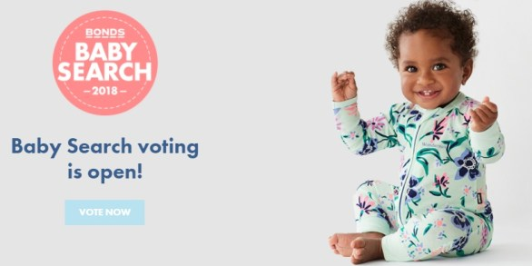Bonds Baby Search 2018 Competition - Voting