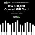 Cricket Wireless - The Sounds of Celebration Sweepstakes - Enter To Chance to Win $1000 Concert Gift Card