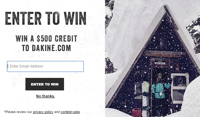 Dakine.com Shopping Spree Contest – Enter Chance To Win $500 Credit