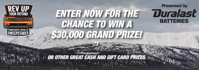 AutoZone Rev Up Your Refund Instant Win Game and Sweepstakes – Chance to Win $30,000, $3,000 Cash Prize