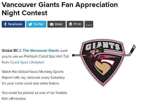 Vancouver Giants Fan Appreciation Night Contest – Stand Chance to Win Tickets to Vancouver Giants Game and More Prizes