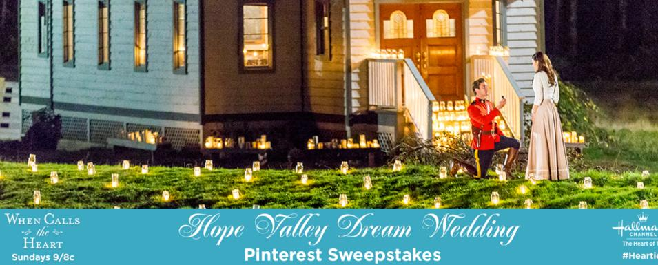 Hallmark Channel's Hope Valley Dream Wedding Pinterest Sweepstakes – Stand Chance to Win a $500 Visa Gift Card