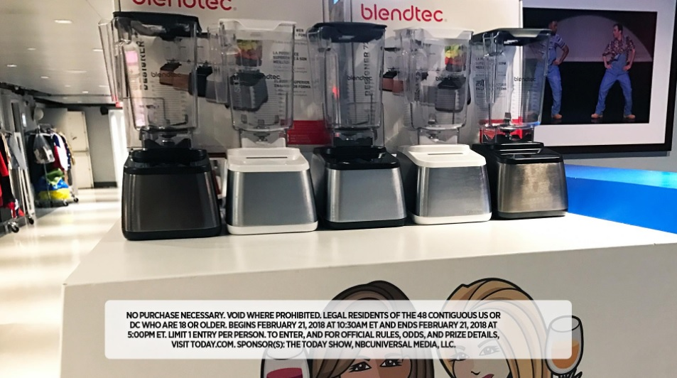 Kathie Lee and Hoda Winter Winezoni Giveaway (Day 8) 21st February 2018 – Chance To Win Blendtec Designer 725 To Eight Fans