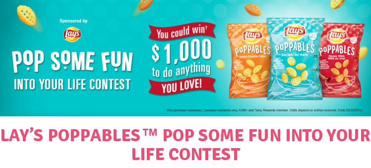 Tasty Rewards Lays Poppables Contest – Stand Chance to Win a $1,000 Cash Prize