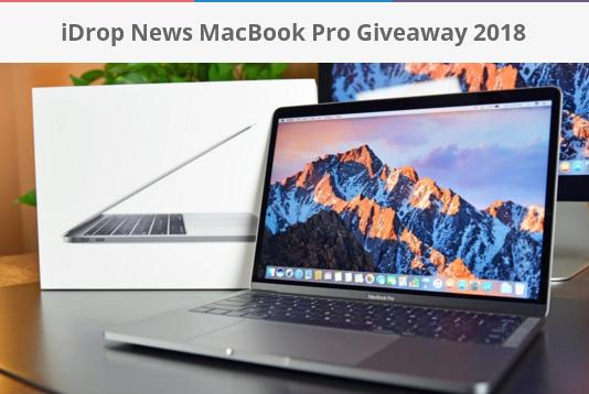 iDrop News MacBook Pro Giveaway 2018 – Stand Chance to Win MacBook Pro