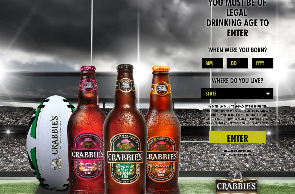 St. Killian - Crabbie's Rugby Sweepstakes - Enter and Chance to Win Trip to San Francisco, California