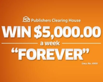 PCH $5000 A Week Forever Sweepstakes - Win Every Week For
