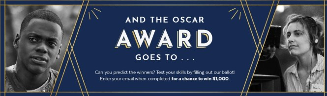 Popsugar 2018 Oscar Ballot Sweepstakes – Enter For Chance To Win $1000