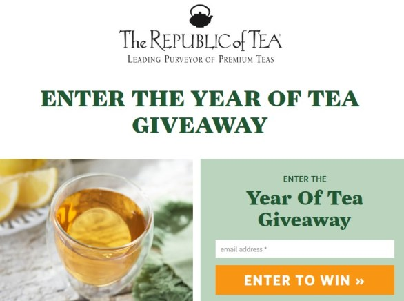 The Republic Of Tea Year Of Tea Sweepstakes – Enter For Chance To Win 12 Tins Of Teas