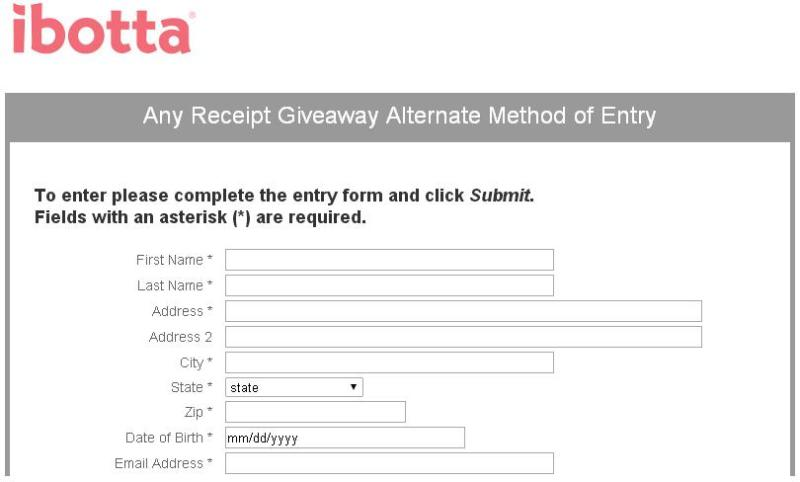 Ibotta Any Receipt Giveaway – Stand Chance to Win $1000, Credit Deposited