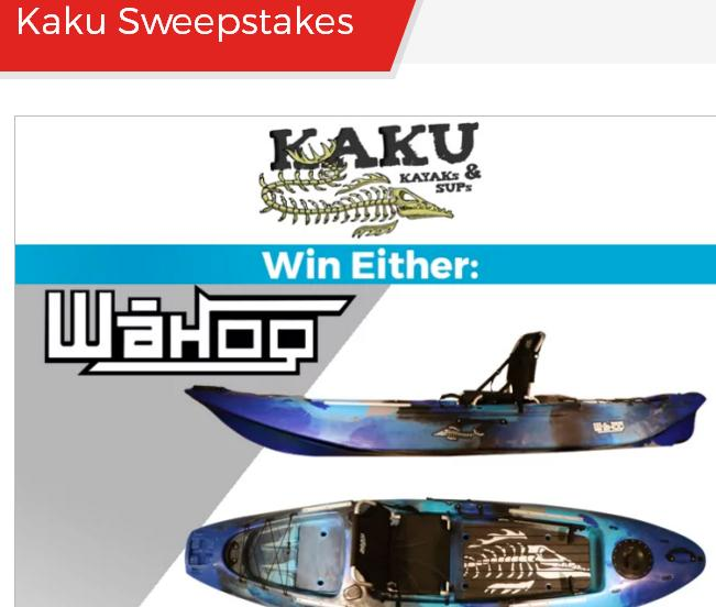 Paddling Kaku Sweepstakes – Stand Chance to Win a Kaku Wahoo 10.5 or the Kaku Voodo