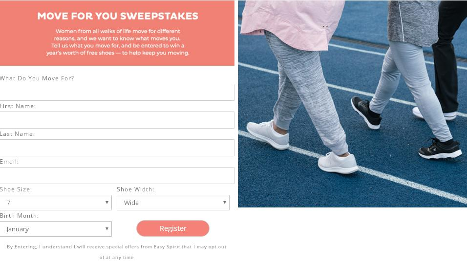 Easy Spirit 'Move For' Sweepstakes – Enter For Chance To Win 12 Pair Of Shoes