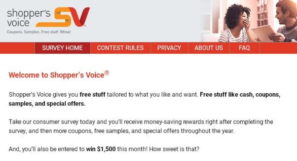 Shopper's Voice Official 2018 Speak Up To Win Contest– Stand Chance to Win $1,500