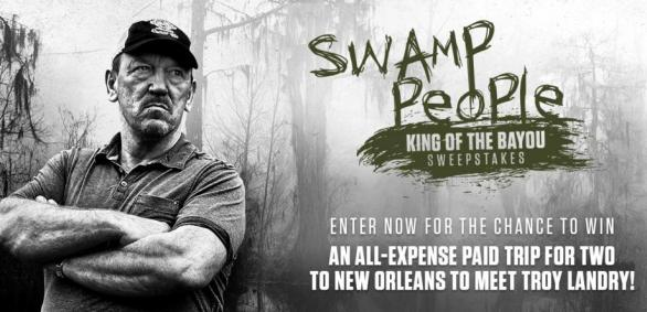 Swamp People King Of The Bayou Sweepstakes– Stand Chance to Win a Trip to New Orleans, LA