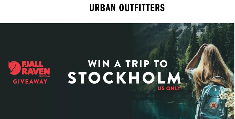 The Urban Outfitters Going Global Fjallraven Sweepstakes – Stand Chance to Win Trip Tickets, 5 night Stay, $1,000 USD Gift Card, Backpacks, $200 worth of Accessories