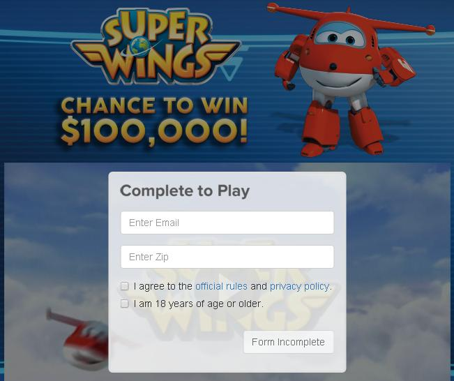 The $100,000 Super Wings Contest– Stand Chance to Win a $100,000 Cash Prize, Walmart Gift Cards, Super Robot Suites