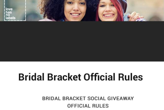 TLC's Bridal Bracket Social Giveaway - Chance to Win A $5,000 Kleinfeld Bridal Gift Card
