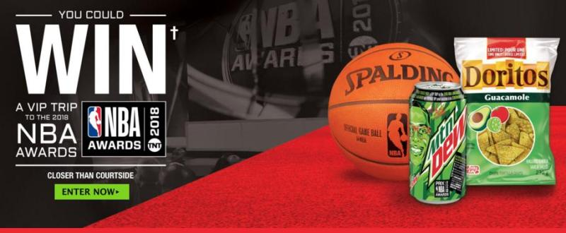 Mountain Dew And Doritos 2018 Closer Than Court Side Contest – Stand Chance to Win Trip to the 2018 NBA AwardsMountain Dew And Doritos 2018 Closer Than Court Side Contest – Stand Chance to Win Trip to the 2018 NBA Awards