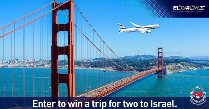 EL AL USA Facebook Matmid San Francisco to Tel Aviv Giveaway - Enter To Win A Trip To Israel