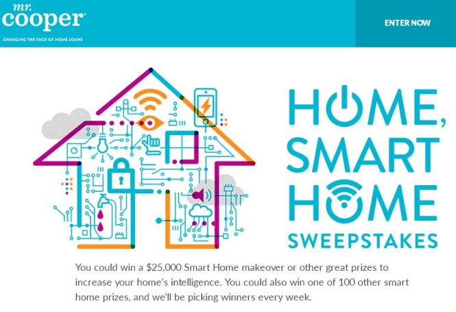 Mr. Cooper Home Smart Home Sweepstakes – Stand Chance to Win a Smart Home Devices Package and Other More Prizes