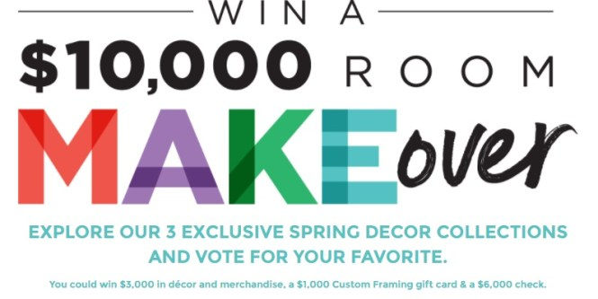 Michaels Sweepstakes - Enter To Win $10,000 Room Makeover (Merchandise, gift card, & $6,000 check)