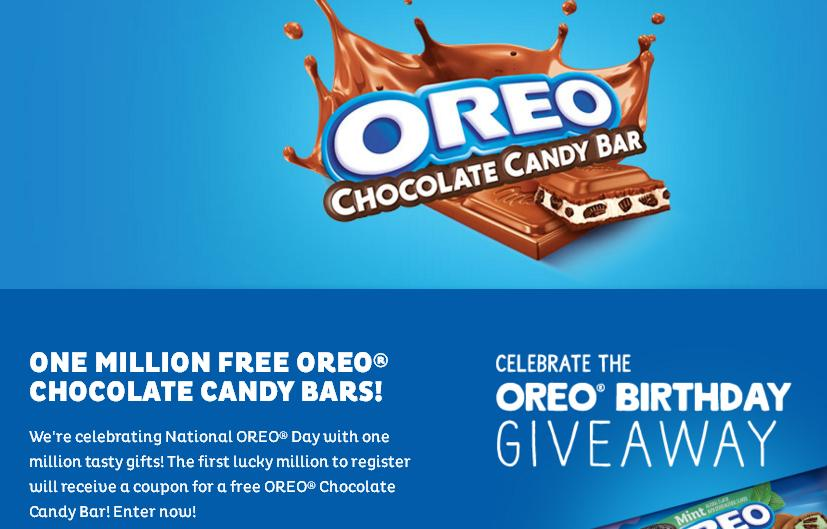 OREO Birthday Giveaway – Stand Chance to Win Coupon for a Free OREO Chocolate Candy Bar