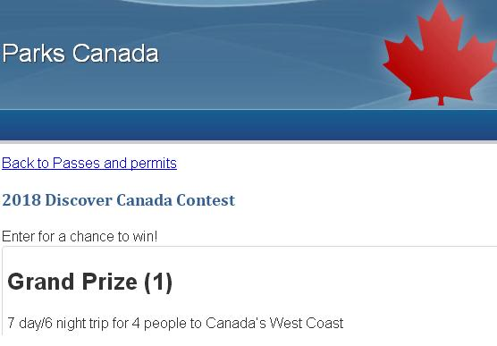 2018 Discover Canada Contest – Stand Chance to Win Trip to Canada's West Coast