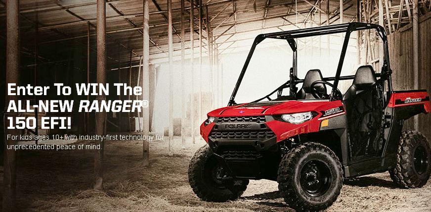 Polaris Ranger 150 Sweepstakes – Stand Chance to Win 2018 Ranger 150 Prize
