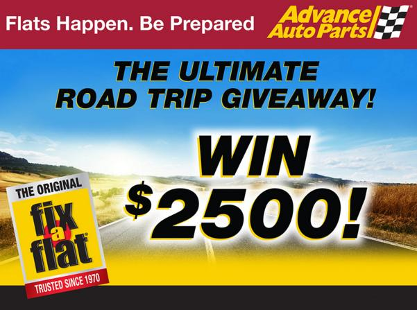 Fix-a-Flat The Ultimate Road Trip Giveaway - Enter To Win $2,500 Visa Gift Card