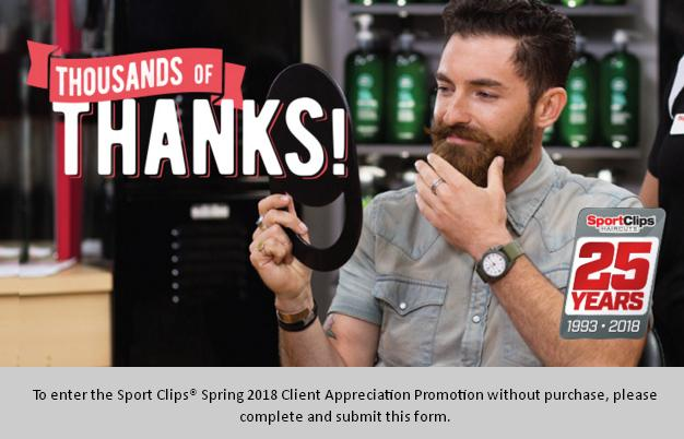 Sport Clips Spring 2018 Client Appreciation Sweepstakes – Stand a Chance to Win a Each Daily Prize consist $250 Prepaid Debit Card