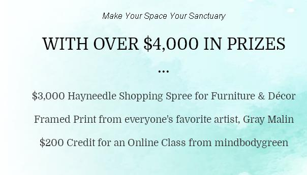 PureWow 2018 Home Makeover Sweepstakes– Stand Chance to Win A $3,000 Hayneedle.com Gift Card, Framed Gray Malin Print and Online Course