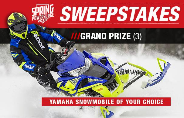 2019 Spring Power Surge Sweepstakes – Stand Chance to Win a Yamaha Snowmobile2019 Spring Power Surge Sweepstakes – Stand Chance to Win a Yamaha Snowmobile